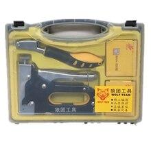 household heavy duty manual nail stapler nail staple gun tacker upholstery wood hand door framing finish