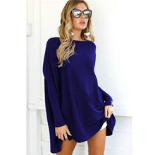 2019 Women Fashion Pullover T-shirt Autumn And Winter Female Hot Sale European And American Women Top T-shirt For Women E057(China)
