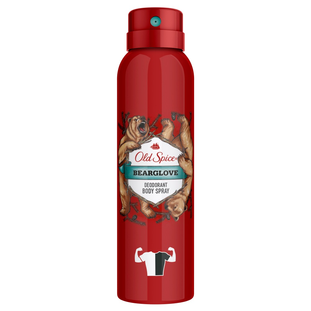 Aerosol deodorant Old Spice Bearglove 125 ml shower gel bearglove 250 ml