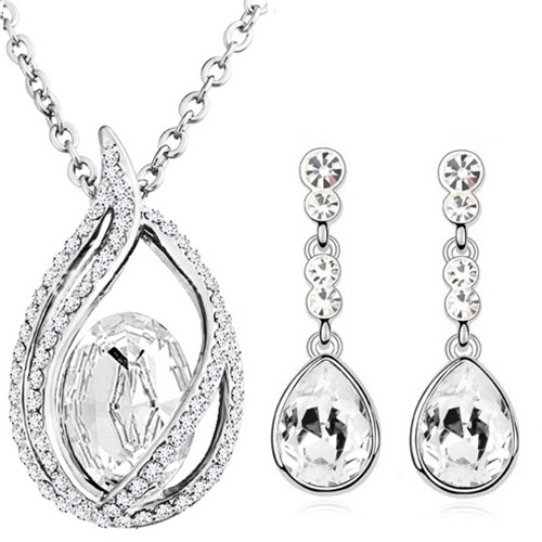 austrian Crystal tear drop flame pendant fashion jewelry sets - Fashion Jewelry - Photo 5