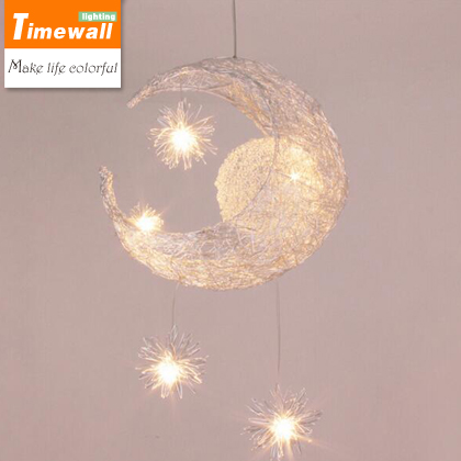 Modern Personalized Moon Star Chandelier Children Bedroom Lustres hanging ceiling lamp home decorative Fixture Lighting moon flac jeans