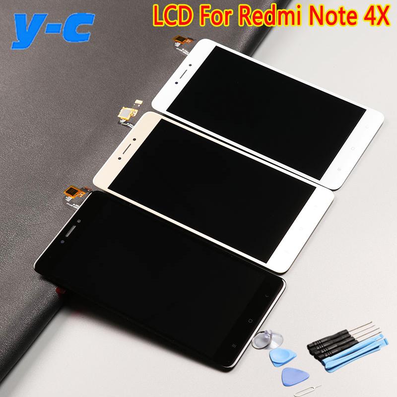 Prix pour Pour Xiaomi Redmi Note 4X LCD Display + Écran Tactile 100% Nouveau Digitizer Panneau de Verre Pour Xiaomi Redmi Note 4X1920X1080 FHD 5.5 pouces