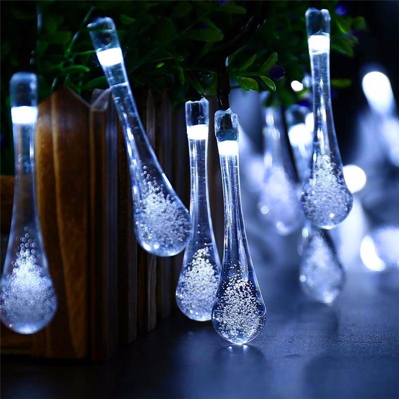 LED luces solar forma de gota  (5)