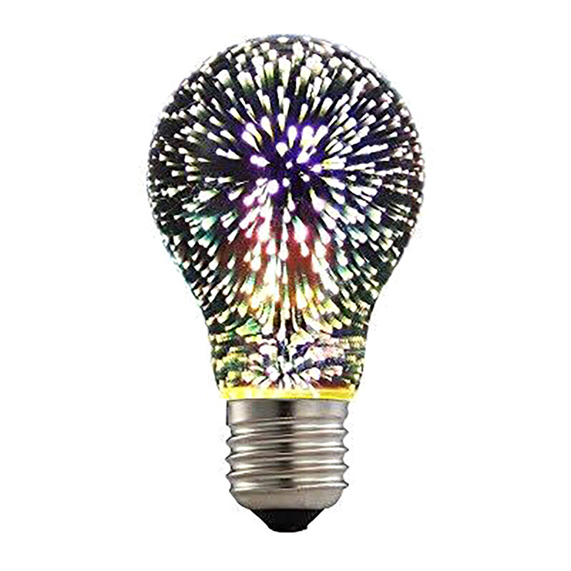 2019 New Style Silver Plated Glass 3d Star Led Edison Bulb 220v A60 St64 G80 G95 Holiday Christmas Bar Led Lamp Lamparas Bombillas