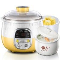 220V Bear Automatic Electric Stewing Cooker Mini Electric Cooking Pot Machine 0.8L Stewing Pot 1L Steamer EU/AU/UK Plug