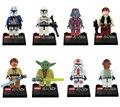 2016 New Star Wars Bloques Starwars Clone troopers Darth Vader Yoda Star Wars Figuras de Juguete Ladrillos Compatible con Lepine Minifig