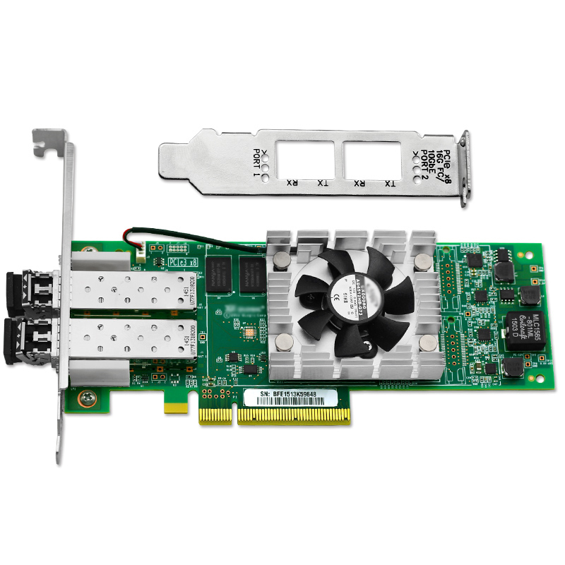 QLE2672 16Gb Dual Port Fibre Channel HBA PCI-E Host Bus Adapter Multi-Mode Optic цена 2017