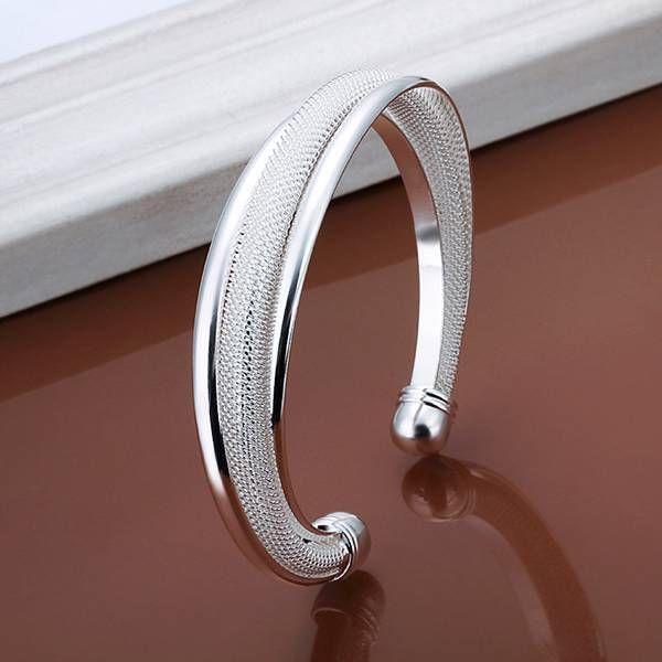 db2cce0c0019 Moda 925 Joyas de plata de las mujeres llenó la pulsera del brazalete del  regalo de Navidad-f