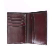 TERSE Handmade genuine leather purse mens solid leather wallet for male with card pocket custom service