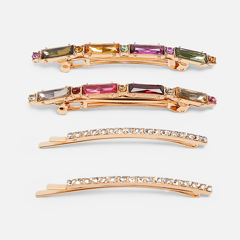 Ztech Fashion Metal Hair Clip for Women Girls Elegant Korean Design Snap Barrette Stick Hairpin Hair Styling Accessories in Hair Jewelry from Jewelry Accessories