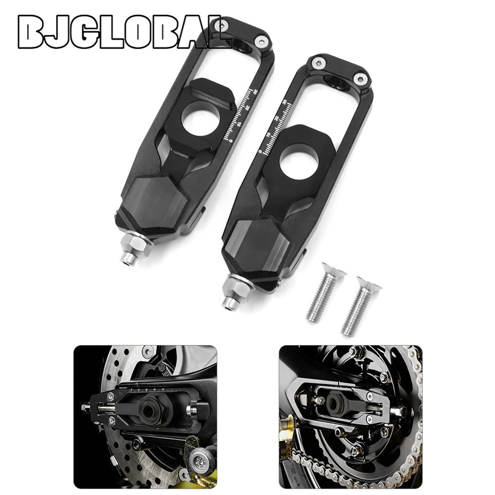 ФОТО New Arrive CNC Motorcycle MT-09 FZ-09 Chain Adjusters Tensioners Catena with Spools For Yamaha MT09  FZ09 2013-2016