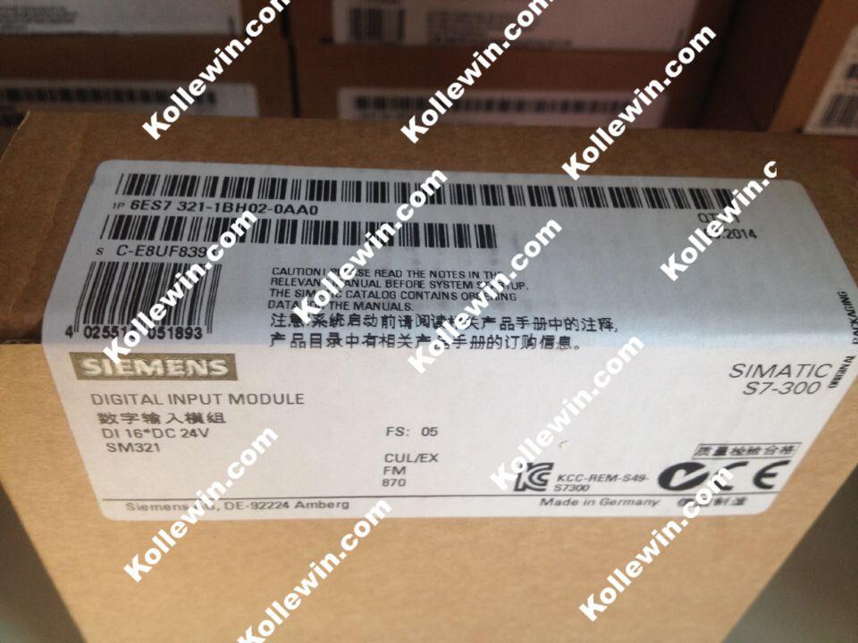 все цены на Original 6ES7321-1BH02-0AA0 Digital Input Module, SIMATIC S7-300 6ES7 321-1BH02-0AA0,16DI, 24 V DC, 1 X 20 PIN, 6ES73211BH020AA0 онлайн