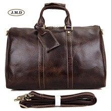 J.M.D New Style Genuine Excellent Vintage Leather Unisex Fashion Briefcase Laptop Bag Protable Travel Duffle Bag 7077C