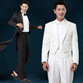 New self - cultivation suits white tuxedo performance men 's groom wedding dress suits suit