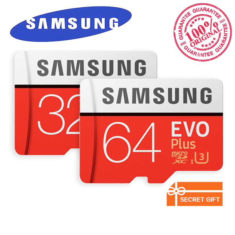 SAMSUNG EVO Plus MicroSD Memory Card 32GB 64GB 128GB 256GB TF Card C10 U3 SDHC/SDXC UHS-I for Smartphone Tablet etc with Adapter leef microsd pro 32gb uhs