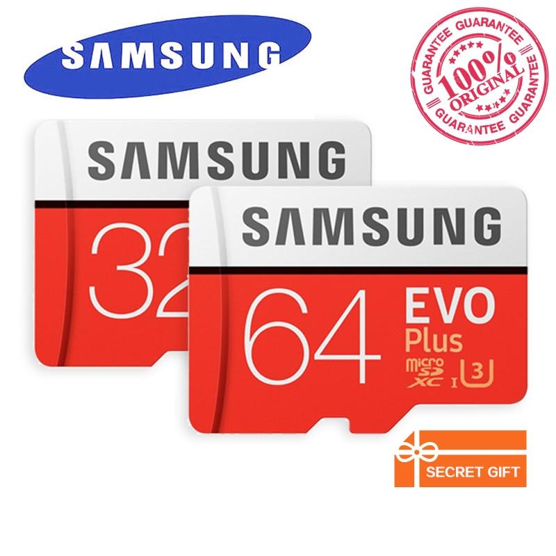 SAMSUNG Memory Card EVO Plus MicroSD 32GB 64GB 128GB 256GB TF Card C10 U3 SDHC/SDXC UHS-I