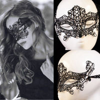 High Quality Lady Sexy Lace Hollow Eye Face Mask Masquerade Ball Fancy Costume Dress Free Shipping