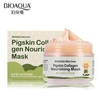 2016 BIOAQUA Skin Care Brand 100g Pigskin Collagen Facial Masks Acne Blackhead Treatment Shrink Pore Moisturizing