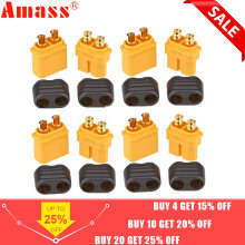10 x Amass XT60 + conector de enchufe con funda carcasa 5 macho 5 hembra (5 pares)(China)