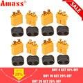 10 x Amass XT60 + conector de enchufe con carcasa 5 macho 5 hembra (5 pares)