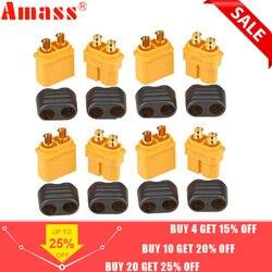 10 x Amass XT60 + prise connecteur avec gaine boîtier 5 mâle 5 femelle (5 paire)