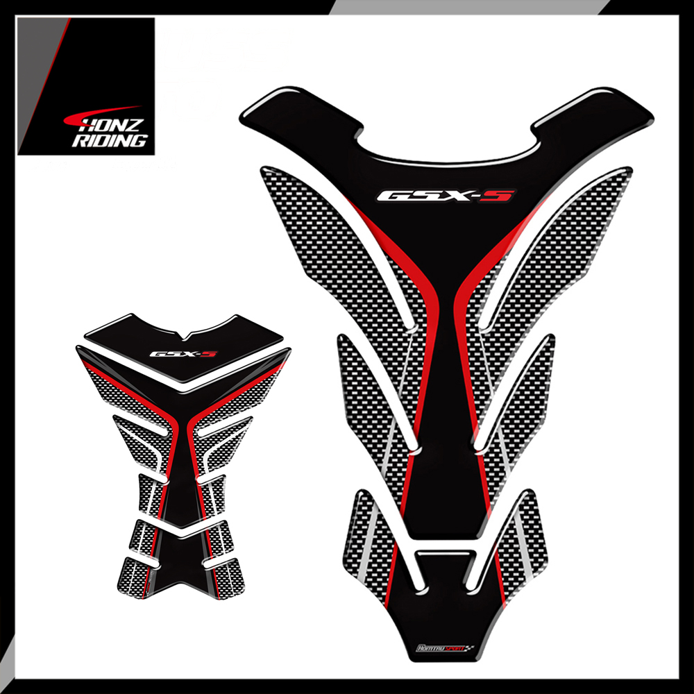 For Suzuki GSX-S1000 GSX-S 1000 1000F Tankpad 3D Carbon-look Motorcycle Tank Pad Protector Decal