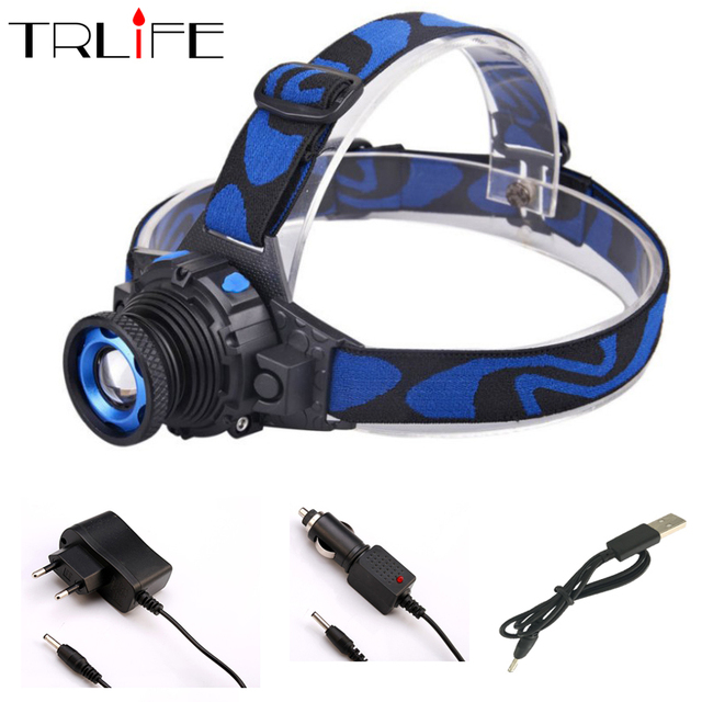 Cree Q5 LED Frontal Led Headlamp Headlight Flashlight Rechargeable Linternas Torch Head lamp Build-In Battery + USB Charger