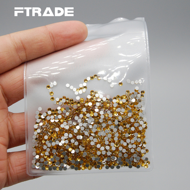 SS3-SS30 Topaz Color 3D Flat Back Non Hotfix Glue On DIY Nail Art Glass  Rhinestones For Nail Decorative Ornament Accessories ece815ffcbff