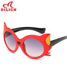 DILICN Kids Sunglasses Toddler Girls Boys Cute Animal Fox Cat Eye Sun Glasses Babies Party Eyewear UV Protection Oculos De Sol