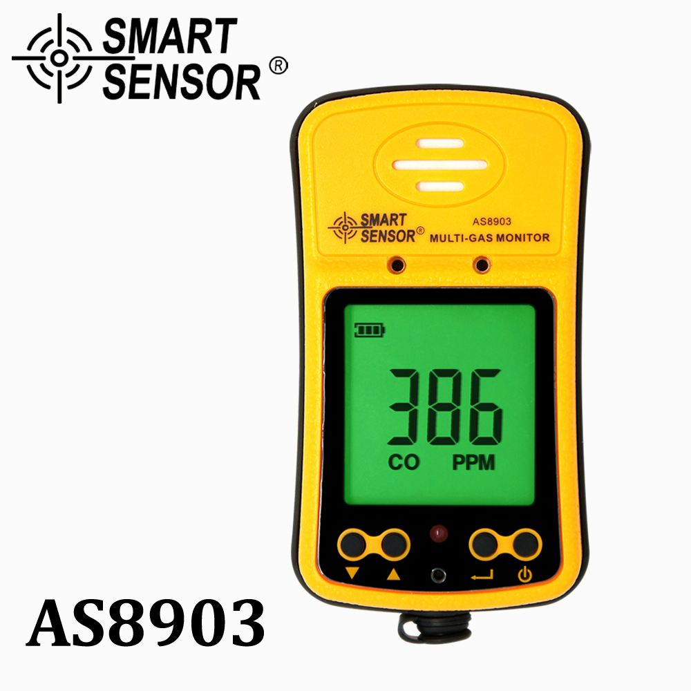 Gas Analyzer carbon monoxide detector co meter gas detector Hydrothion H2S Hydrogen Sulfide tester Monitor rechargeable Alarm