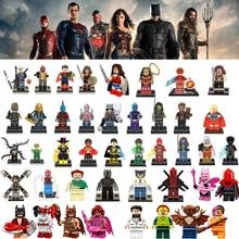 Venda Mulher Maravilha Super-heróis Marvel Guardians Of the Galaxy Batman LEGOINGLY DC Blocos de Construção Vingadores Brinquedos Figuras bk20