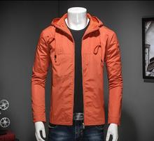 2017 Spring men jacket long-sleeve jacket solid color with hood all-match plus size M-3XL