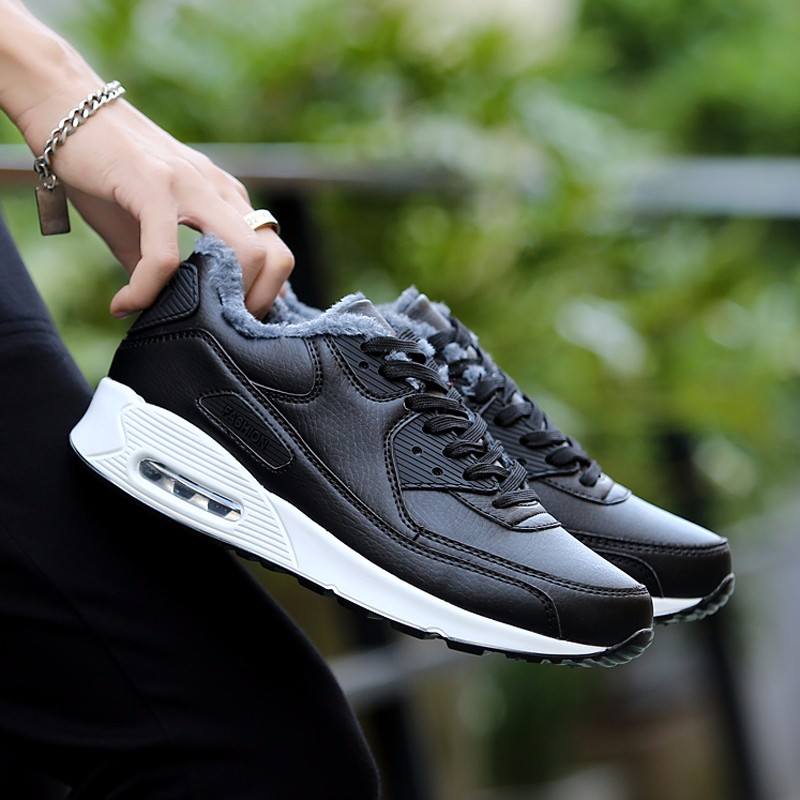 Plush Warm Women 90 Casual Shoes Winter Fashion Lace Up Sport Men Shoes Superstars Leather Runner Shoes Unisex Trainers YD11 (12)