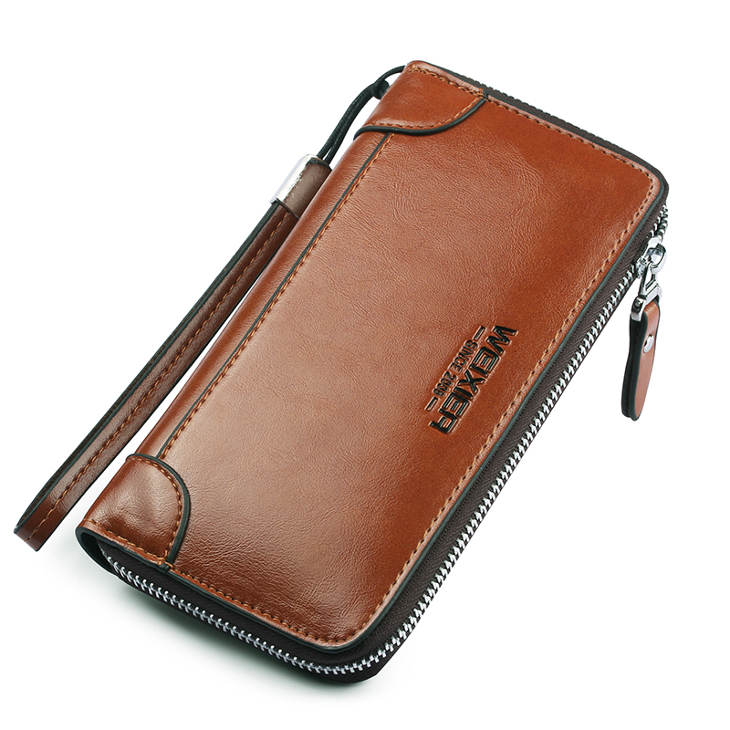 2019 New Men Wallet Purse Long Card Holder PU Leather Wallet Men Brand Casual Clutch Male High Quality Zipper Coin Purse For Men