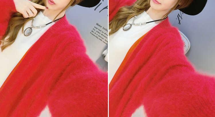 Genuine Mink Kaschmir Dicken Warmen Mantel Reale Natürliche Echte Nerz Kaschmir Pullover Luxus Fabrik Großhandel OEM rabatt KFP892
