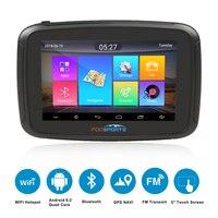 Fodsports ipx7 waterproof motorcycle navigation 5 inch moto car GPS wifi 16G motorbike navigator android 6.0 FM 3000mAh battery