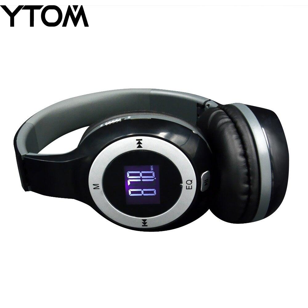New Headset Wireless Smart Phone Stereo Music For: YTOM New Bluetooth Headphone Foldable HiFi Stereo Wireless