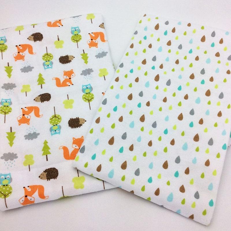 2 pcs/pack sheet baby 140 x 70cm 100% cotton newborn Baby bed sheet Fox hedgehog printing crib sheet baby bedding set