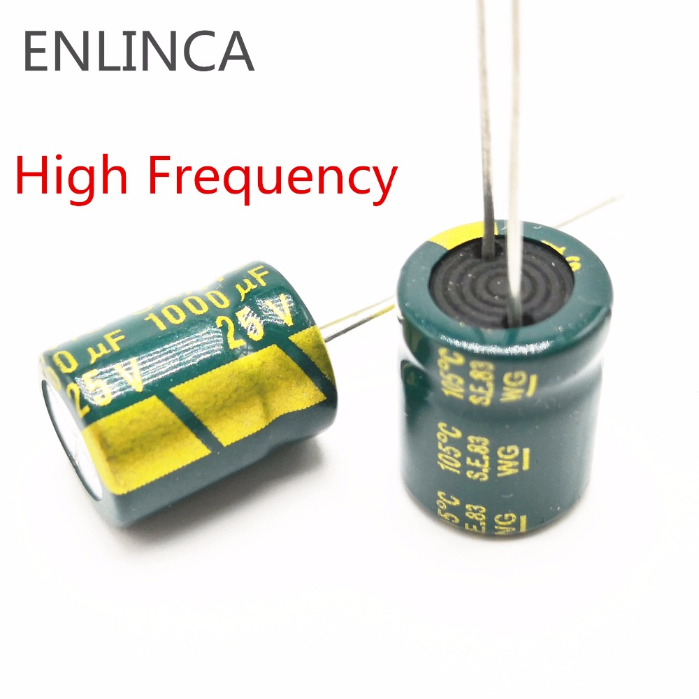100!300pcs Good Quality 25V 1000UF Low ESR/Impedance High Frequency Aluminum Electrolytic Capacitor Size 8*16MM 1000UF25V