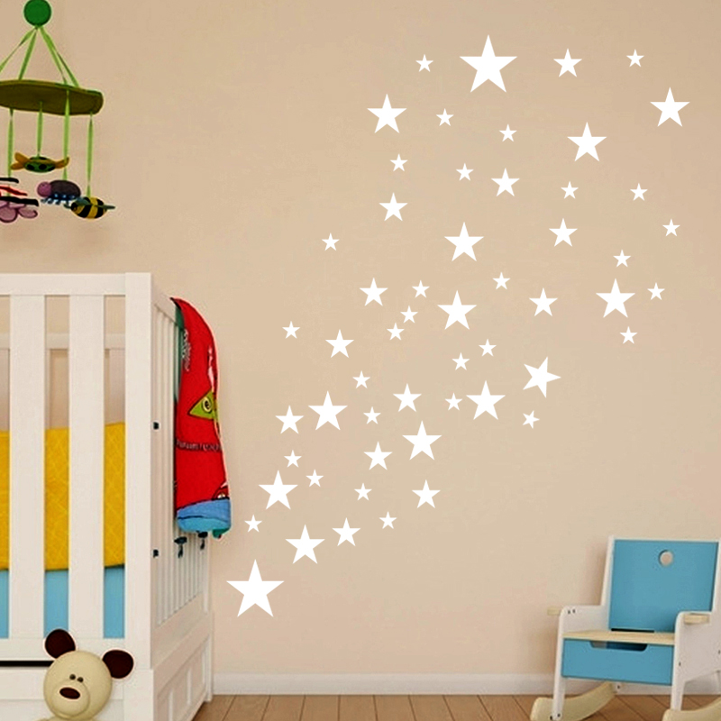 Various Size Stars Wall Art Vinyl Decal Stickers Kid Nursery Bedroom Decoration