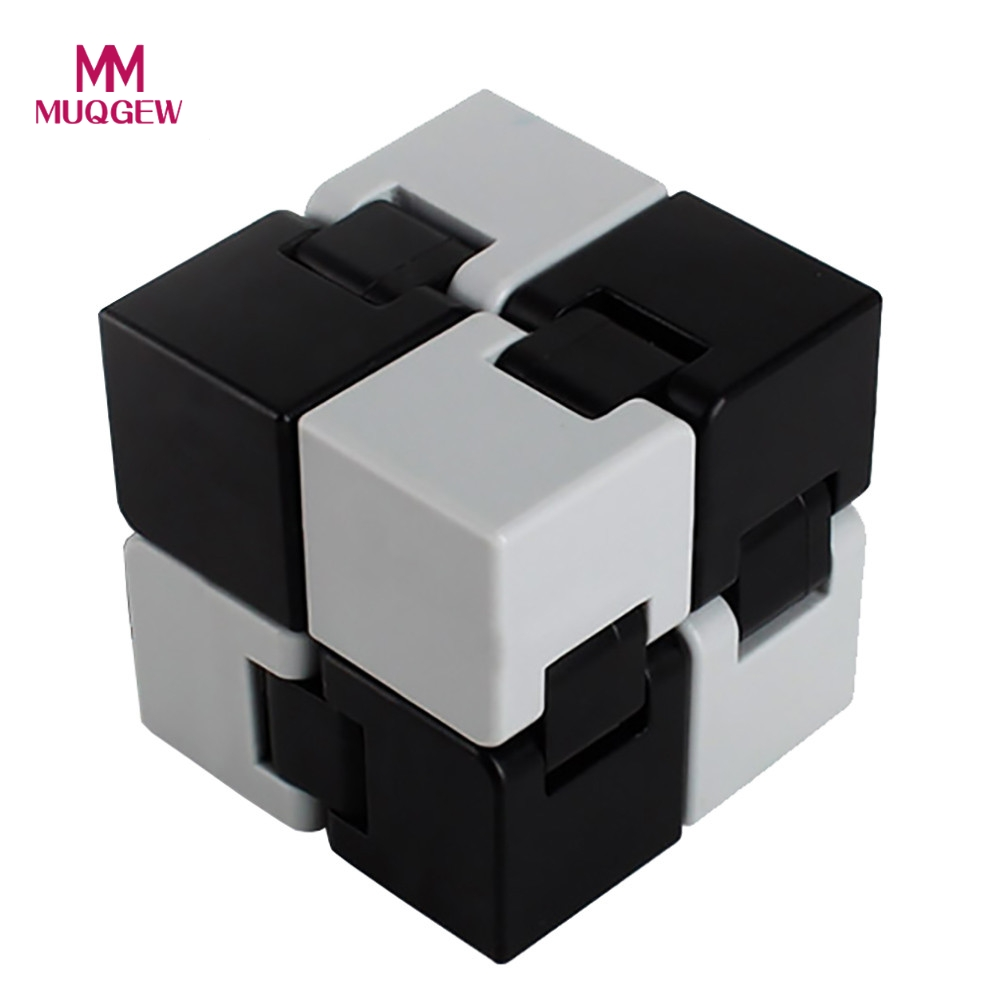 2017 Fashion Fidget Cube Plastic Infinity Cube For Stress Relief Fidget Anti Anxiety Stress Funny Magic Cube Desk EDC Spin Toys