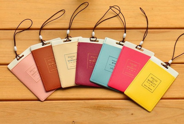 2017 Hot Cute Letter Luggage Tags Work Permit Namecard Bag Business Card Set