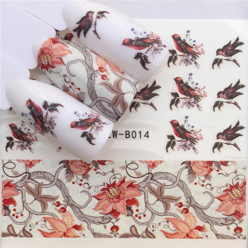 Image 5 - 2019 Flying Dandelion Nail Art Water Decals Transfer Sticker Manicure Nail Decoration-in Stickers & Decals from Beauty & Health