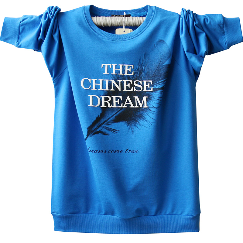 Men's Cotton Tees Plus Size T shirt Spring Youth Long Sleeve Tops Pure Cotton T shirt Long sleeve T shirt For Teenagers