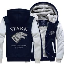 Men's Sweatshirt Game of Thrones House Stark hoodies men Winter Is Coming 2017 spring winter fleece jacket tracksuits harajuku 4