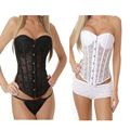 Women's Hollow Out Waist Trainer Lace Corsets And Bustiers G String Set Plus Size Sexy Lingerie Body Shaper Corselet  TYQ