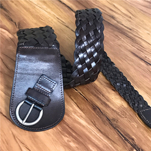 Genuine Leather Braid Women Belt Corset Belt Wide Belts Cummerbunds For Women Ceinture Femme Ladies Leather belt Female BTW0002