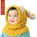 Winter Baby Caps Animal Puppy Hat For Protect The Ears Hooded Scarf Children's Warm Hats Boy Girls Cute Wool Cap Kids Beanie
