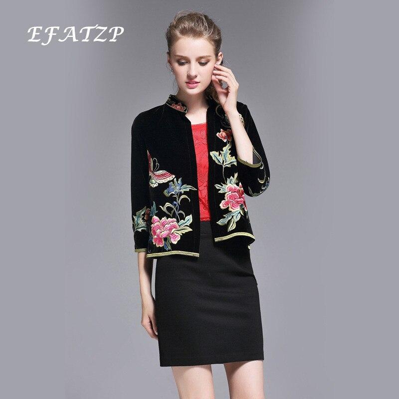 XXL Grau Stickerei Großhandel Wholesale M 5XL Größe Mujer Traditionelle Chinesische Satin S XXXL Art Damen Frauen Mantel Chaqueta 4XL Jacke L XL 3AR4q5jL