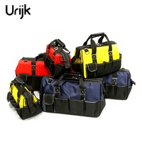 Urijk 12 18inch Large Capacity Oxford Tool Organizer Bag Electrician Canvas Hardware Mechanics Pouch Durable Utility